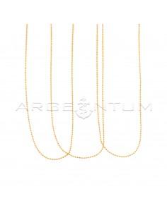 Catenine pallina diamantata da 1,2 mm placcate oro rosa in argento 925 (50 cm) (3 pz.)
